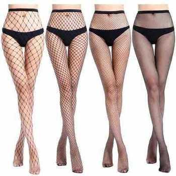 Bas en résille pour femmes SEXY taille haute, collants de club, filet de tricot, maille de lingerie tt016, 1 pièce/lot