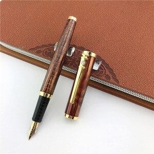 Металлическая перьевая ручка, школьные и офисные принадлежности, коммерческие Канцтовары, роскошный подарок, чернильные ручки, подарок учителю, отцу, для бизнеса, 007