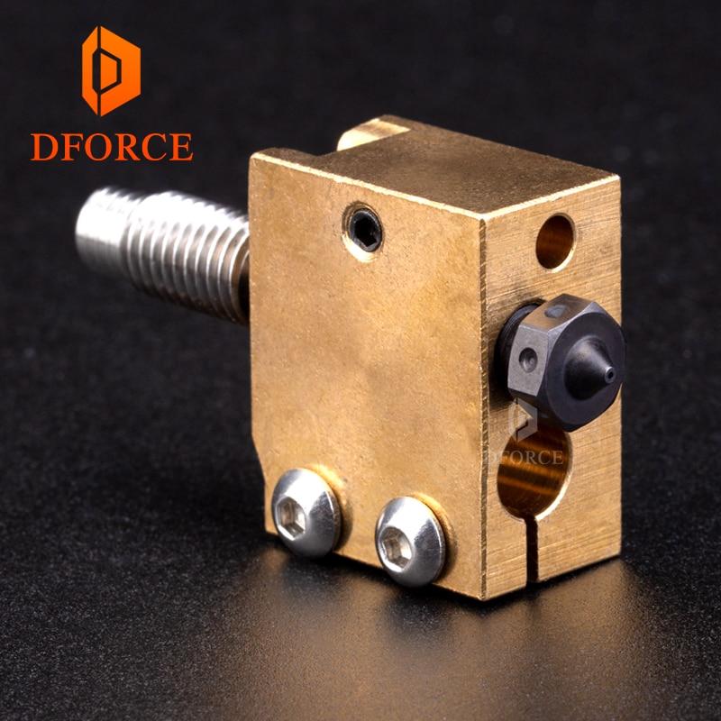 DFORCE H59 cobre termistor bloqueador de acero endurecido boquillas volcano titanium Aleación de calor romper alta temperatura kit de PT100