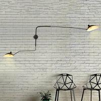 Black Loft Iron Wall Lamp Retro Vintage Lighting Indoor Wall Lamp American industrial Lighting lifting pulley wall light