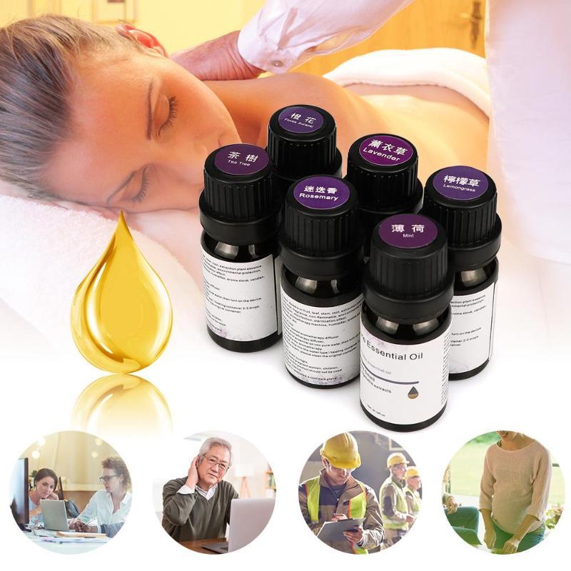 Aceites esenciales para el hogar y el coche, de 10ml, para difusores de aromaterapia, aceites esenciales puros, Perfume de relajación para masaje corporal orgánico