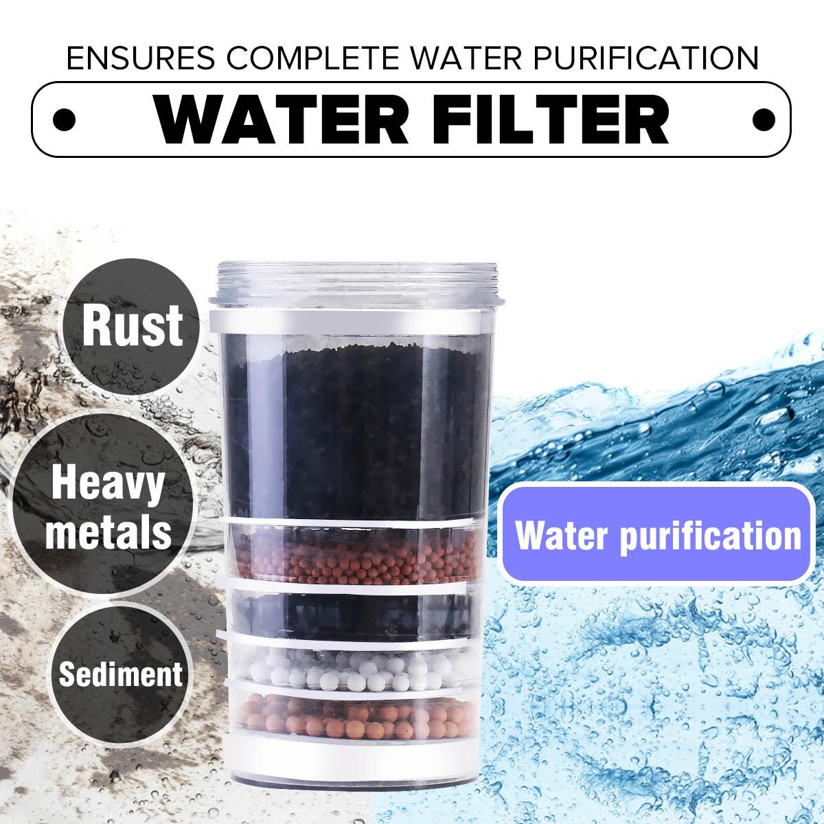 Filtro de agua purificador cerámica superior carbón activado dispensador de minerales reemplazo cartucho cocina accesorios para grifos