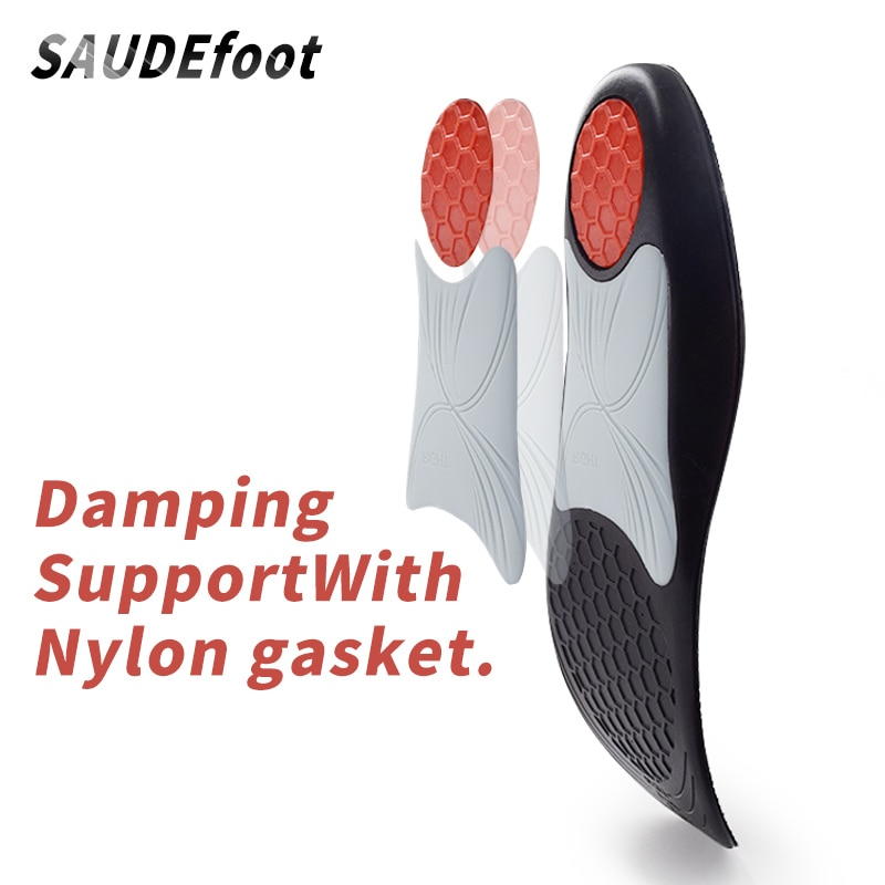 Soft PU shoes Mens Insoles Black Polyster with Nylon Gasket Multi-function Shock Absorption Insoles