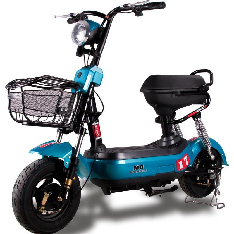 Véhicule électrique adulte deux rond vélo électrique 48 v luxe génération de vélo électrique conduite petit pois Pigeon