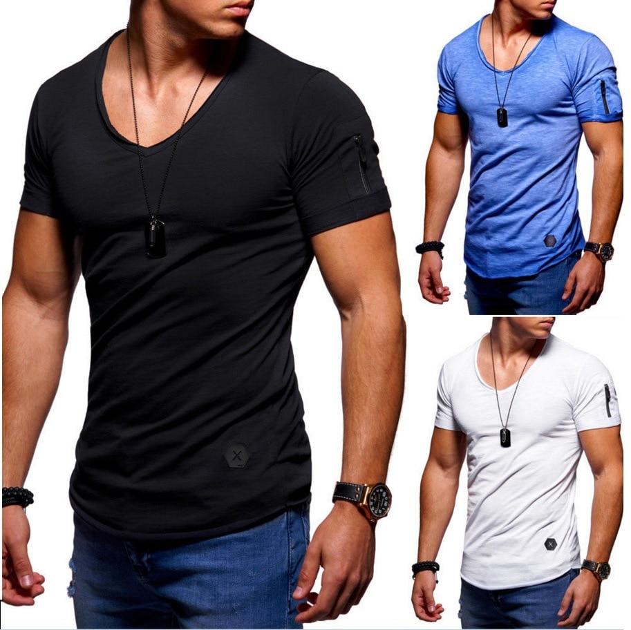 Camiseta ajustada de manga con cremallera para Hombre, ropa de calle de...