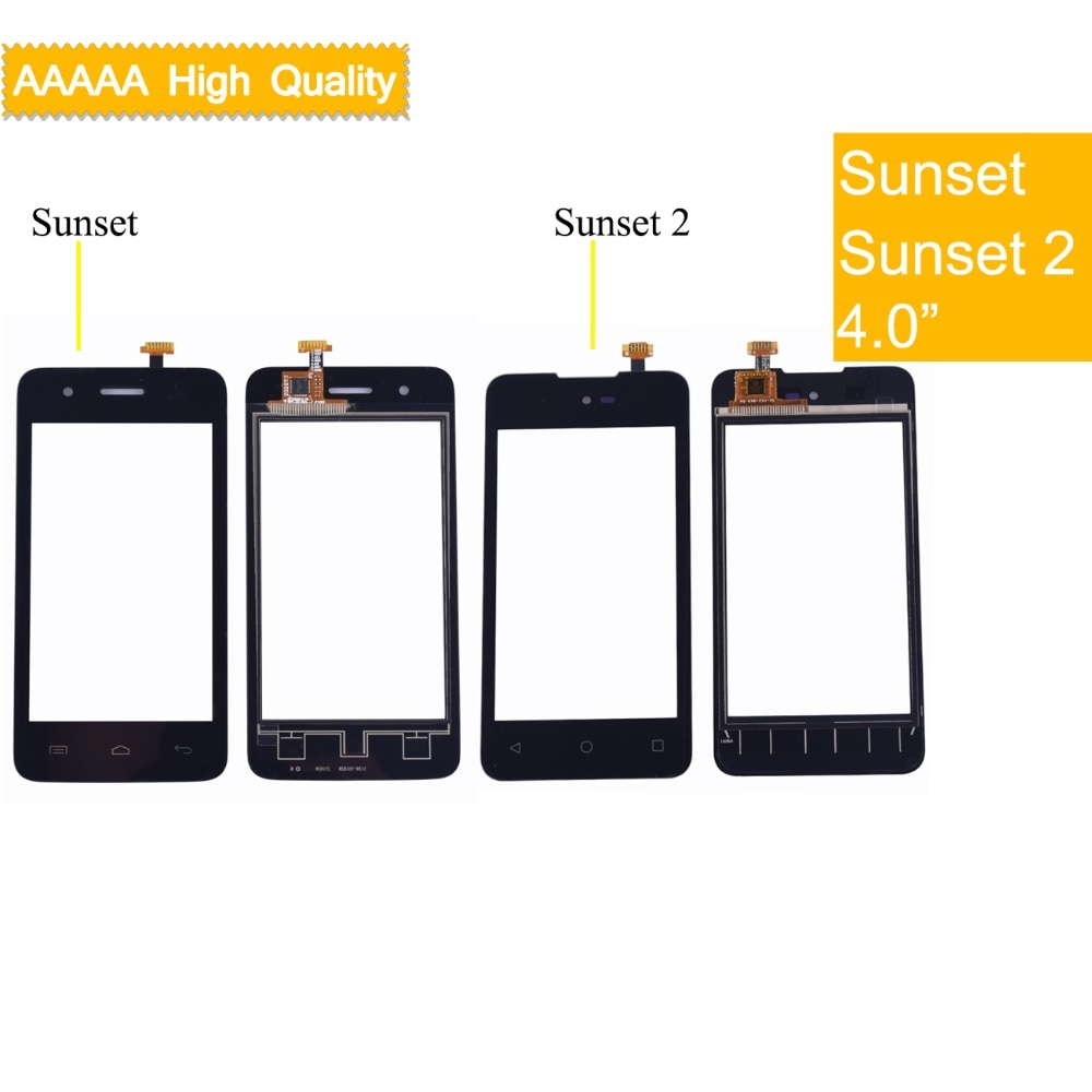 10Pcs/lot For Wiko Sunset Sunset 2 Sunset2 Touch Screen Panel Sensor Digitizer Front Outer Glass Touchscreen Touch Panel недорого