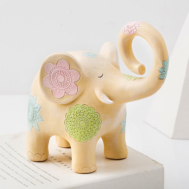 Nordeuropa Tier Retro Ornamente Cartoon Geschenk Deer Zimmer Dekoration vintage home decor Kleine Elefanten Statue