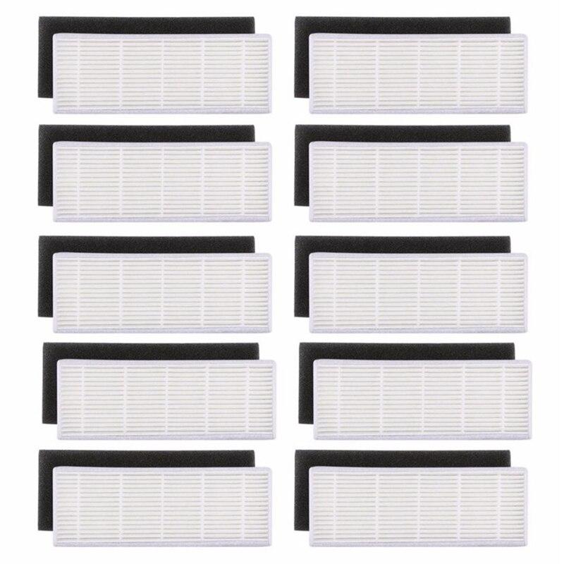 Gran oferta de filtros para filtro HEPA y esponja, repuesto de filtros para ilife A4s A6 A4 A40, 20 unidades por lote, filtro de limpieza de polvo