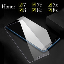 زجاج واقي لهاتف Huawei Honor 8x 7x 8c 8 7 زجاج مقسى لهاتف Honor 7X 7C واقي شاشة لهاتف Honor 7 8 Lite