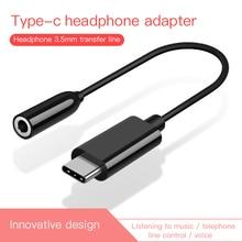 Für Xiao mi Huawei AUX Audio Kabel Typ C zu 3,5 Kopfhörer Adapter USB Typ-C zu 3,5mm jack Kopfhörer Converter für mi 6 Letv