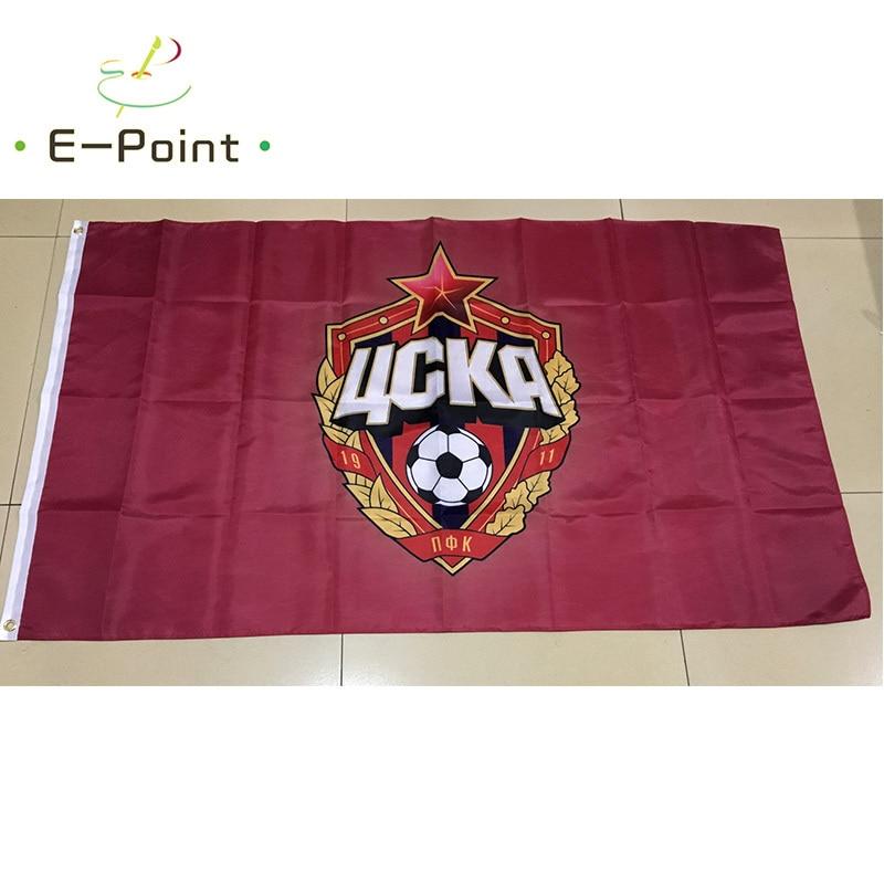 Rusia PFC CSKA Moscú 3 pies * 5 pies (90*150cm) tamaño adornos navideños para el hogar Banner tipo E regalos