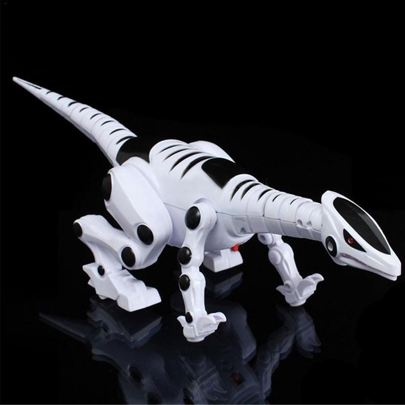 Dinosaurio eléctrico para niños, Robot Roaring, juguete interactivo con música, luz y efectos de sonido, juguete inteligente