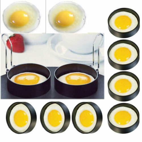 Anillos de Metal antiadherentes para freír huevos, Círculo Perfecto, moldes fritos escalfados, herramientas para freír
