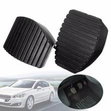 1Pair Auto Car Rubber Brake Clutch Black Skid-proof Pedal Cover Pad Covers For Peugeot For Citroen 1007 207 208 301 C3 C4 C5 C6