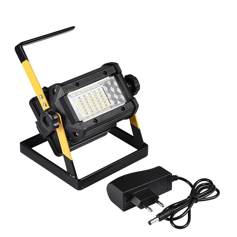 Reflector recargable 36 50W foco LED 2400LM Lámpara de trabajo de inundación portátil con cargador para reparación de Camping al aire libre