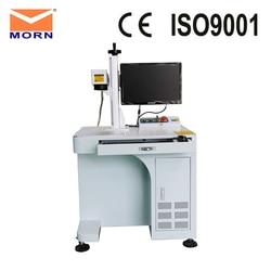 Máquina do cartão da marcação do desktop do laser da fibra de morn com software gráfico