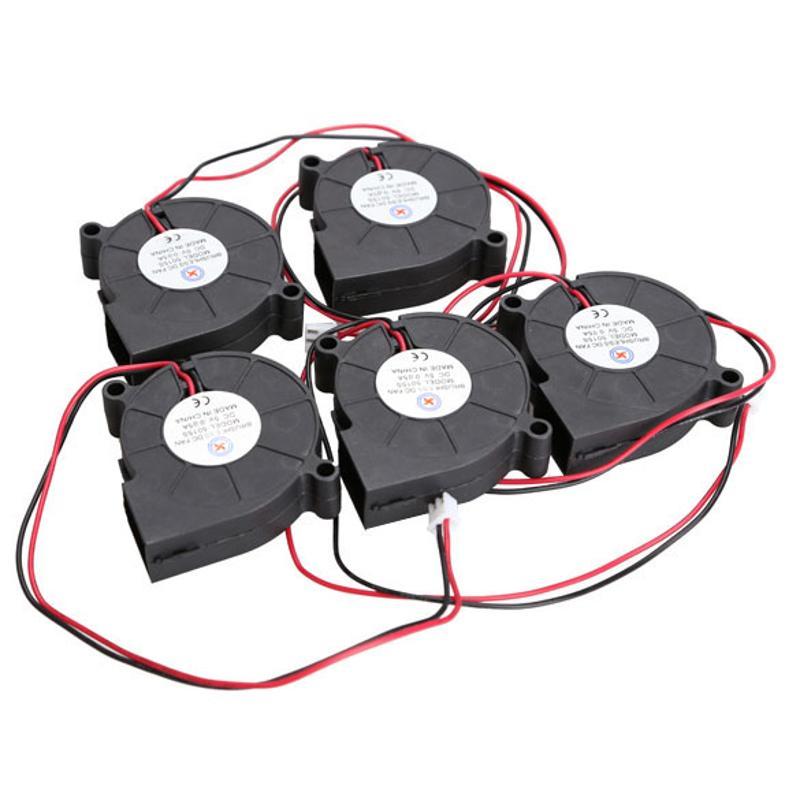 5 unids/set DC ventilador Ultra silencioso de velocidad media ventilador de refrigeración sin escobillas ventilador de escape 5V 0.15A 50*15mm 2 cojinete de manga de alambre