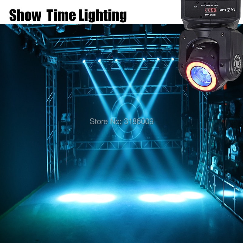 Mini Led Spot Solar Light With Led Strip Light Disco Dj Show RGBW 4 IN 1 60W Beam And Wash Effect Moivng Head For KTV DJ Party