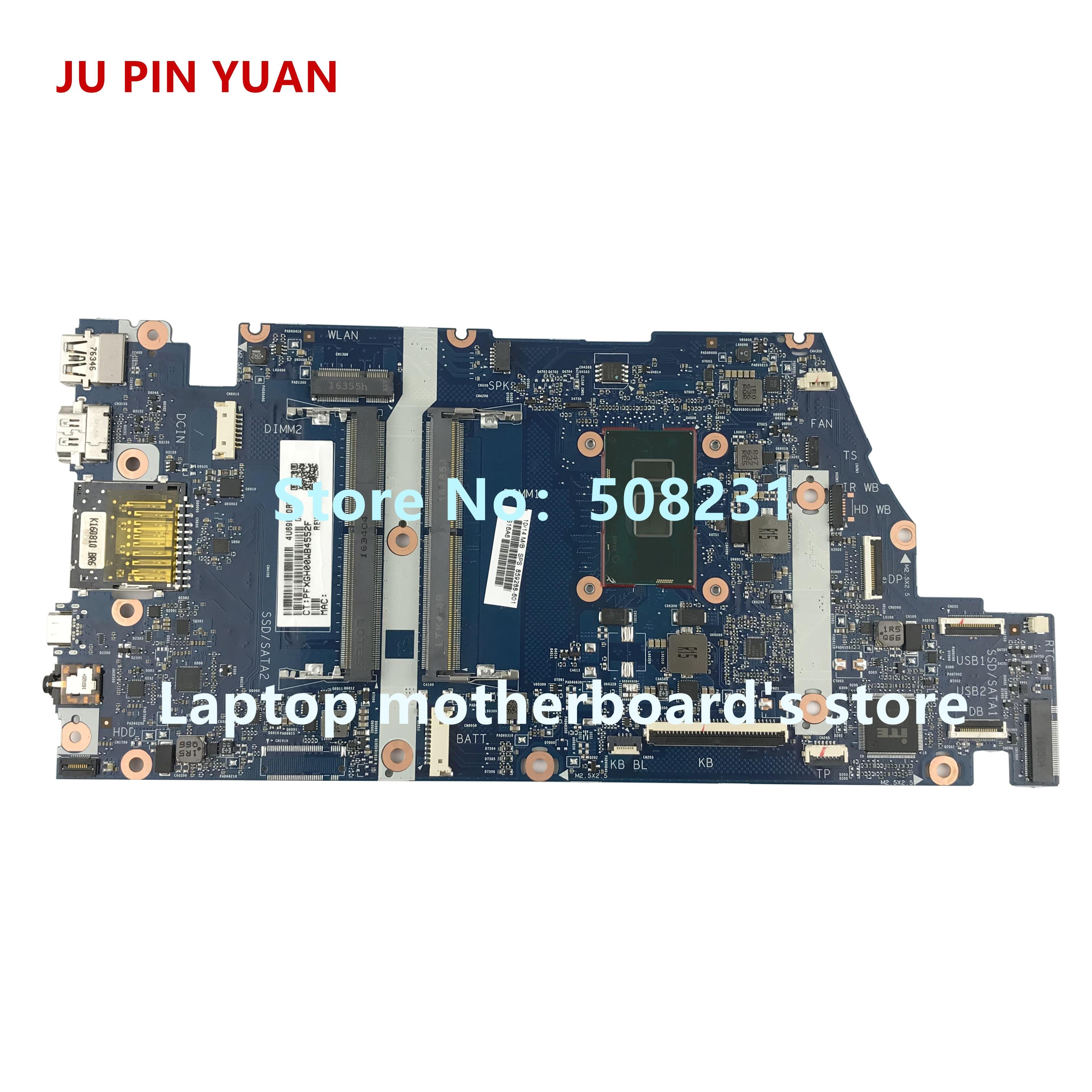 Ju pin Yuan 859288-601 placa madre para HP envidia cuaderno 15-como 15T-AS 15T-AS133CL placa base de computadora portátil con i7-7500U totalmente
