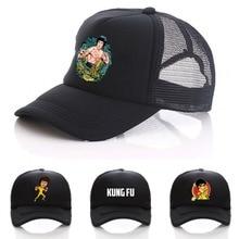 Chapeau de Baseball pour femmes et hommes   kung fu chinois, Bruce lee Cosplay, ajustable, casquette de Baseball, casquettes à rabat, chapeau incurvé de dessin animé