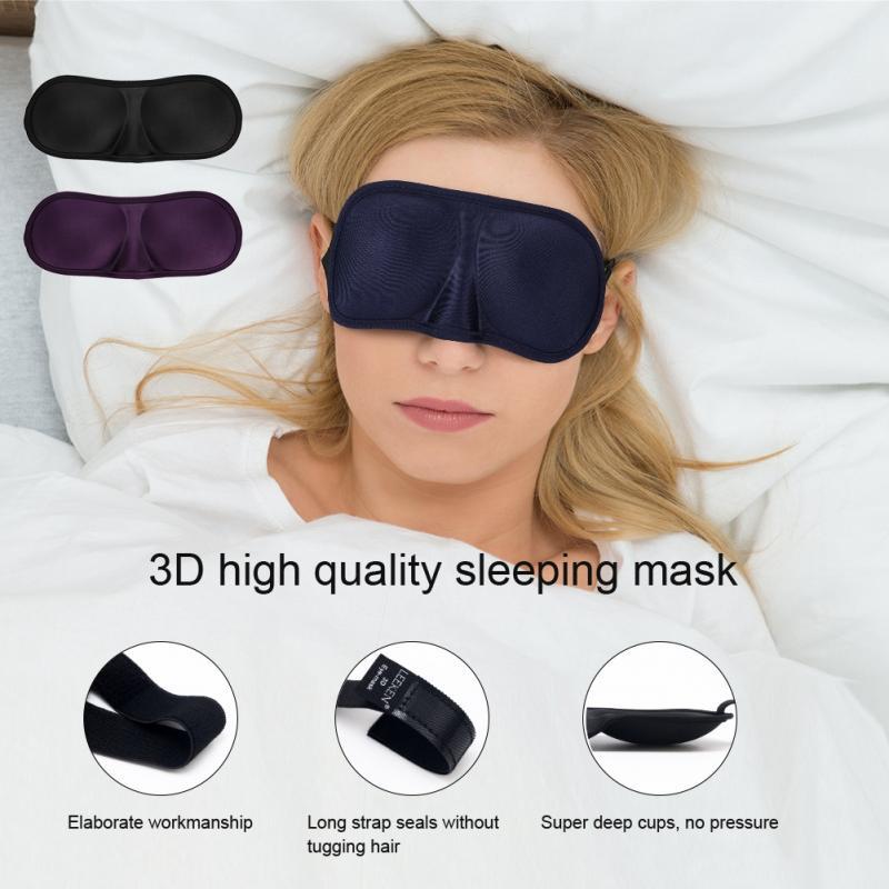 3D Ultra-Suave Máscara de Dormir Capa Blindfold Sono Eyeshade Eyepatch sono máscaras Respirável Ajudar A Insônia Cuidados de Saúde ac