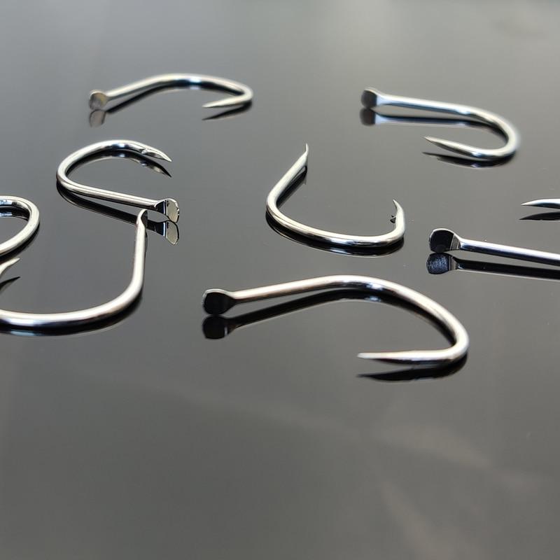 1000PCS Fishing Hook No.1 1/0 PIKE Spade End Jigging Hooks High Carbon Steel Corrosion Protection For Sea Fishing Slow Jigging enlarge