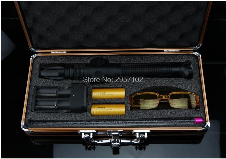 Ponteiro laser ardente para venda 100000mw 10 w 450nm ponteiro laser azul de corte de madeira, ponteiro de borracha caixa de cigarro iluminado