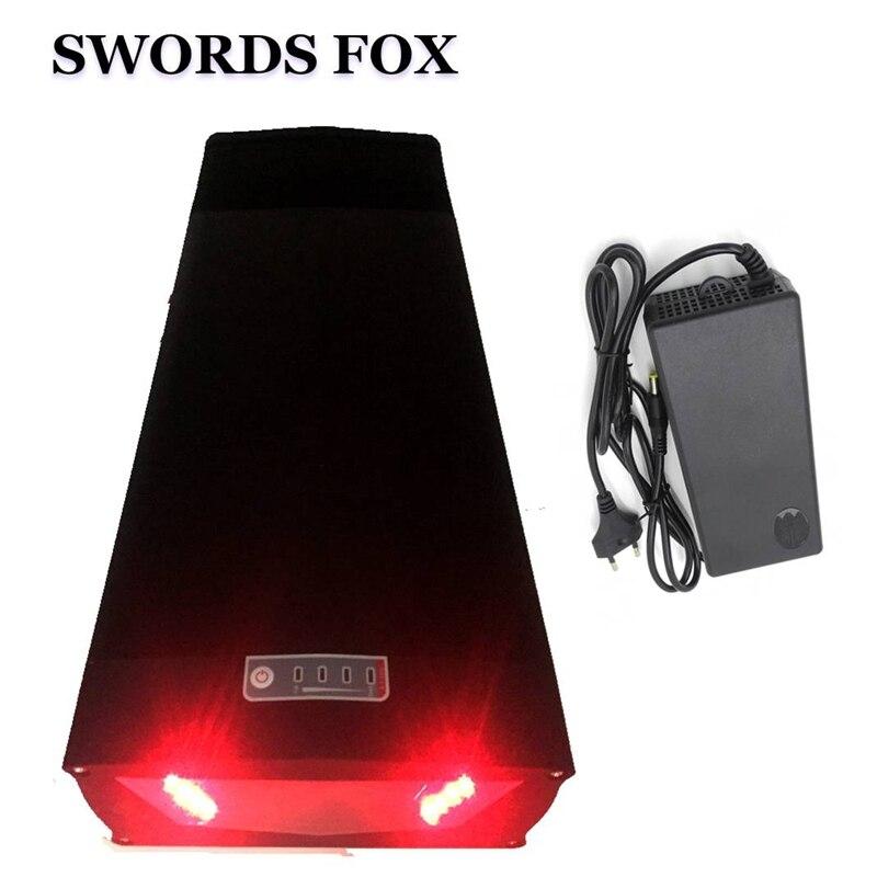 Espadas FOX 48V 22Ah 1000W batería de bicicleta eléctrica de iones de litio con puerto USB y cargador de 54,6 V 3A para batería de 48V con luz trasera