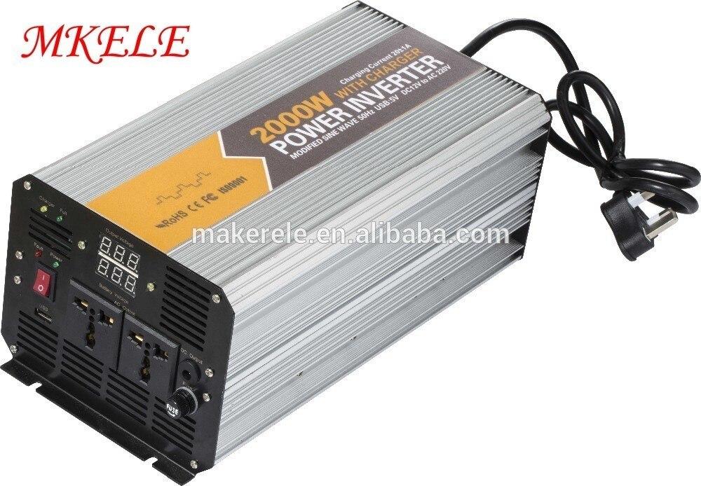 Circuito inversor de electrónica modificado de onda sinusoidal con cargador MKM2000-122G-C inversor 2kw 12 voltios 220 voltios 2kva inversor