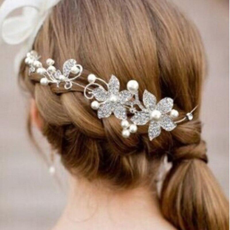 NPASON Bride Ornaments Wedding Dress Bride Headwear Soft Chain Beauty Sweet Grils/Women Hair Jewelry Accessories Free Shipping
