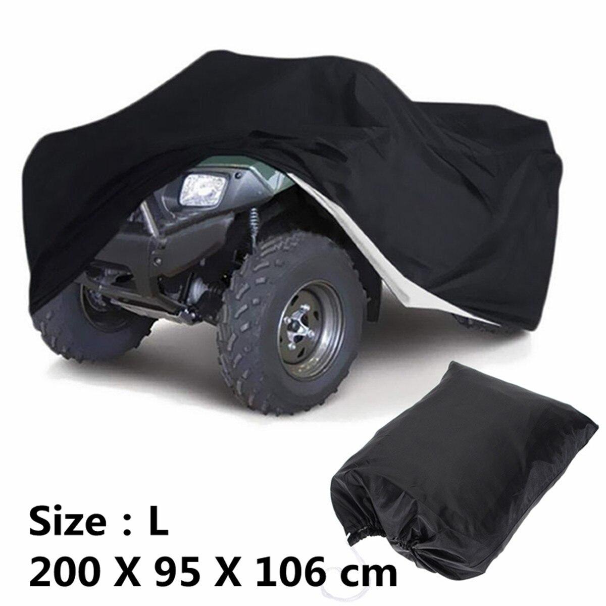 Größen L XXL XXXL Schwarz Universal Motorrad Quad Bike ATV ATC Abdeckung Lagerung Tasche Wasserdicht