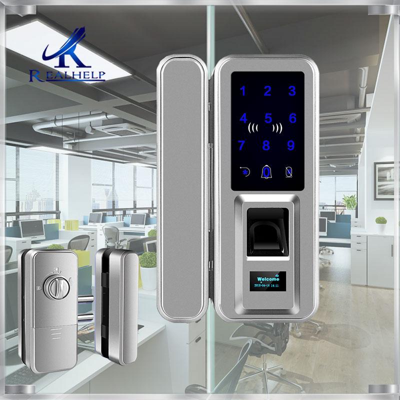 Büro und Häuser Biometrische Fingerprint smart Lock Doppel Glas Türen Keyless fingerprint lock Passcode Digitale Rfid Türschloss