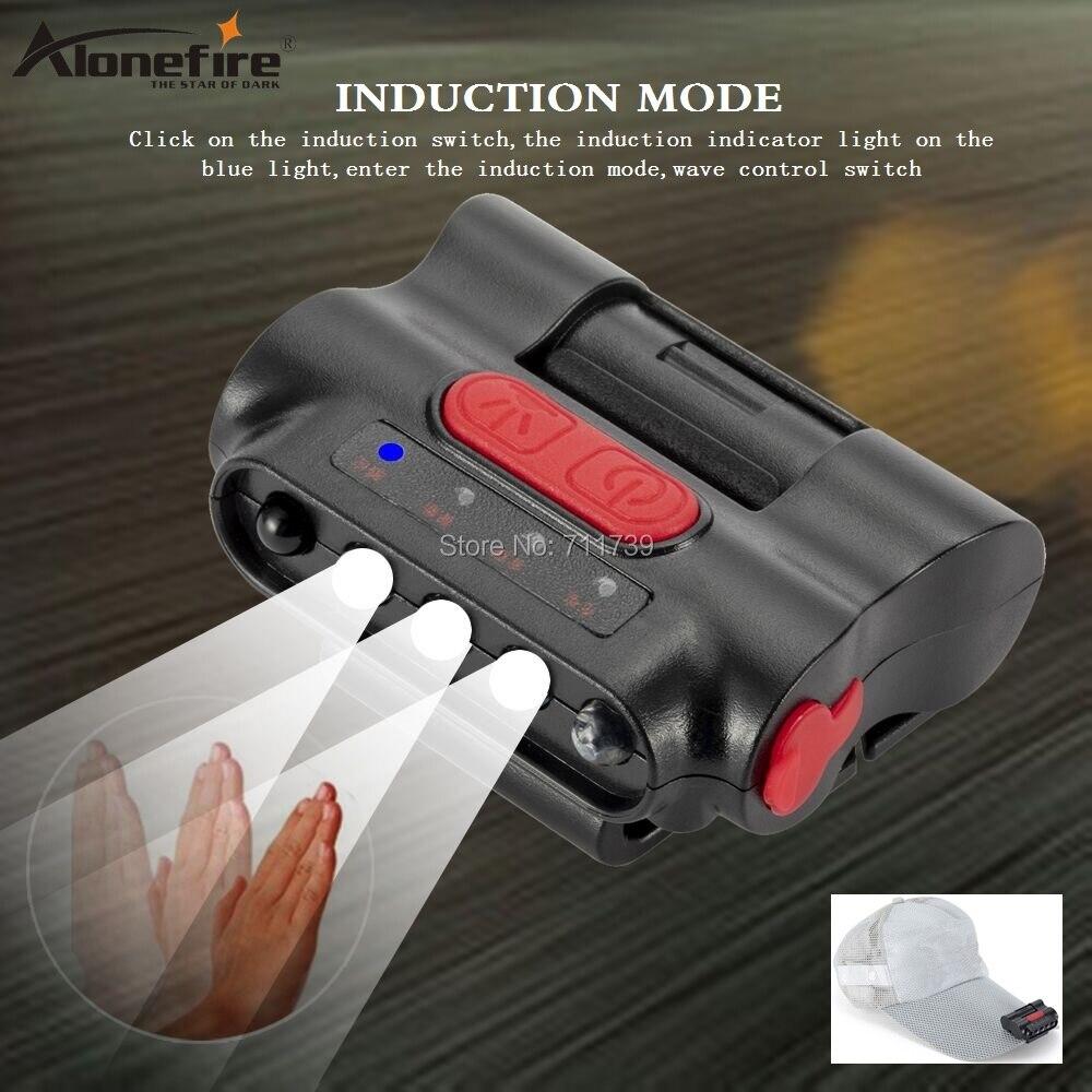 Mini linterna de cabeza MT-B03 de 8000 lúmenes recargable con luz integrada, gorro, linterna de cabeza de inducción con Clip y cable de carga USB para acampada y senderismo