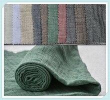 Échantillons pour fils de coton   Tissu de lin teint, tissu double crêpe