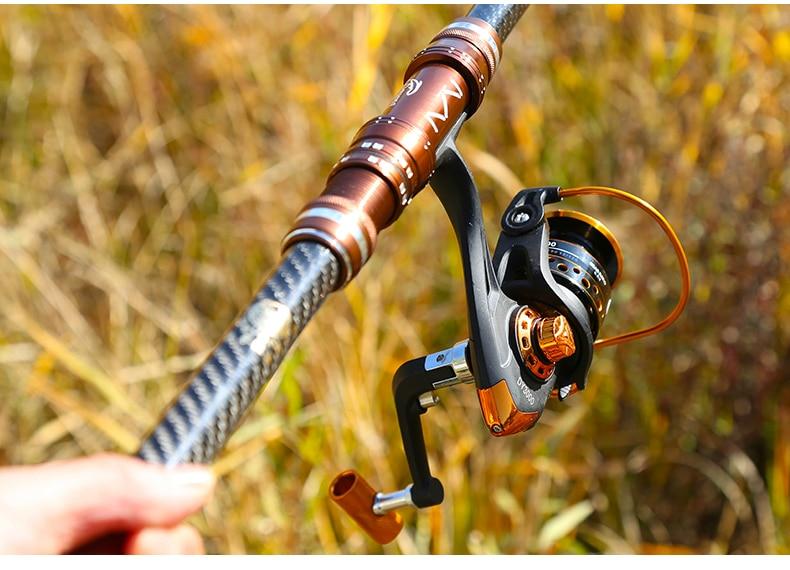Lengthen Carbon Telescopic Fishing Rod Set with Reel Super Hard Ultra Light Throwing Stream Seapole Carp Power Hand Rod 3.6-5.4m enlarge