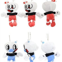 10 pcs/lot Cuphead peluche jouet Cuphead jeu Mugman figure poupée sac pendentif 16 cm pour cadeau