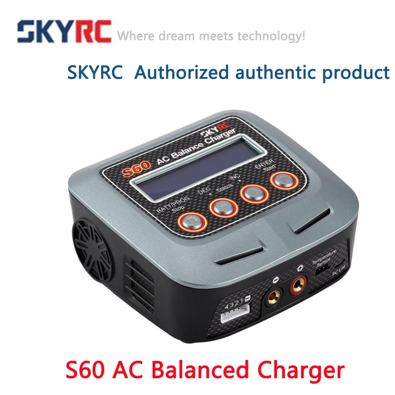 Nueva alta calidad SKYRC S60 60 60W AC Balance cargador de batería descargador para Control remoto AirplaneRC Auto opaded Toebehoren
