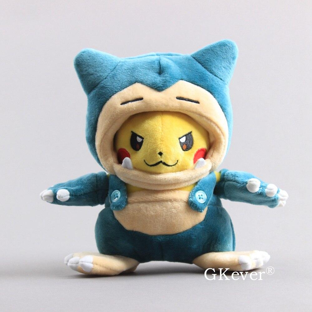 """Anime Pikachu Snorlax kostium pluszowe zabawki Snorlax Kabigon Maniac Pikachu miękkie lalki dzieci prezent 8 """"20 CM"""