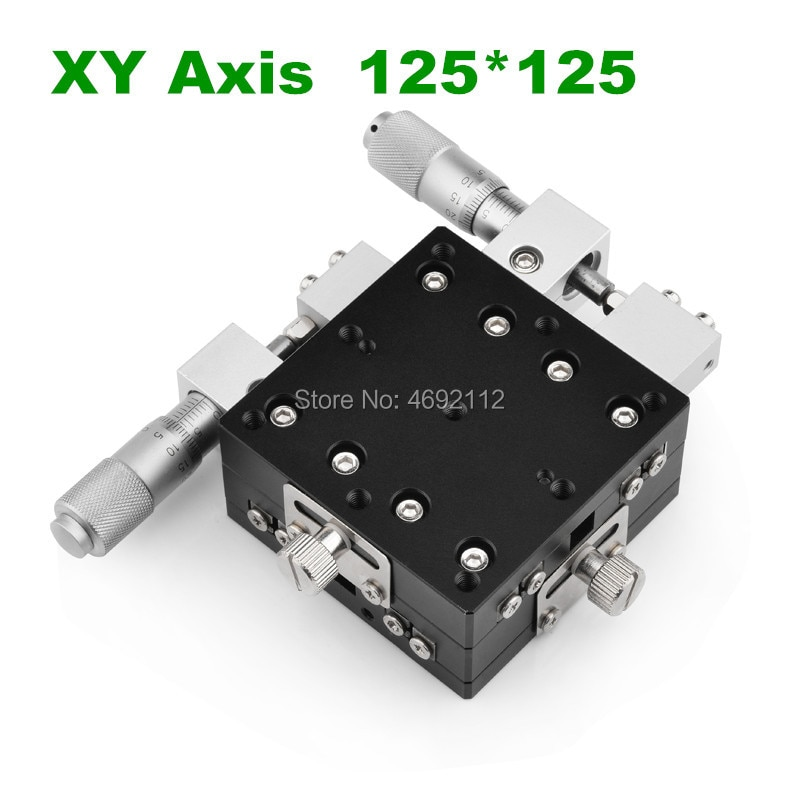 XY محور 125*125 مللي متر التشذيب محطة النزوح اليدوي منصة الخطي المرحلة انزلاق الجدول XY125-L LY125-R XY125-CM عبر السكك الحديدية