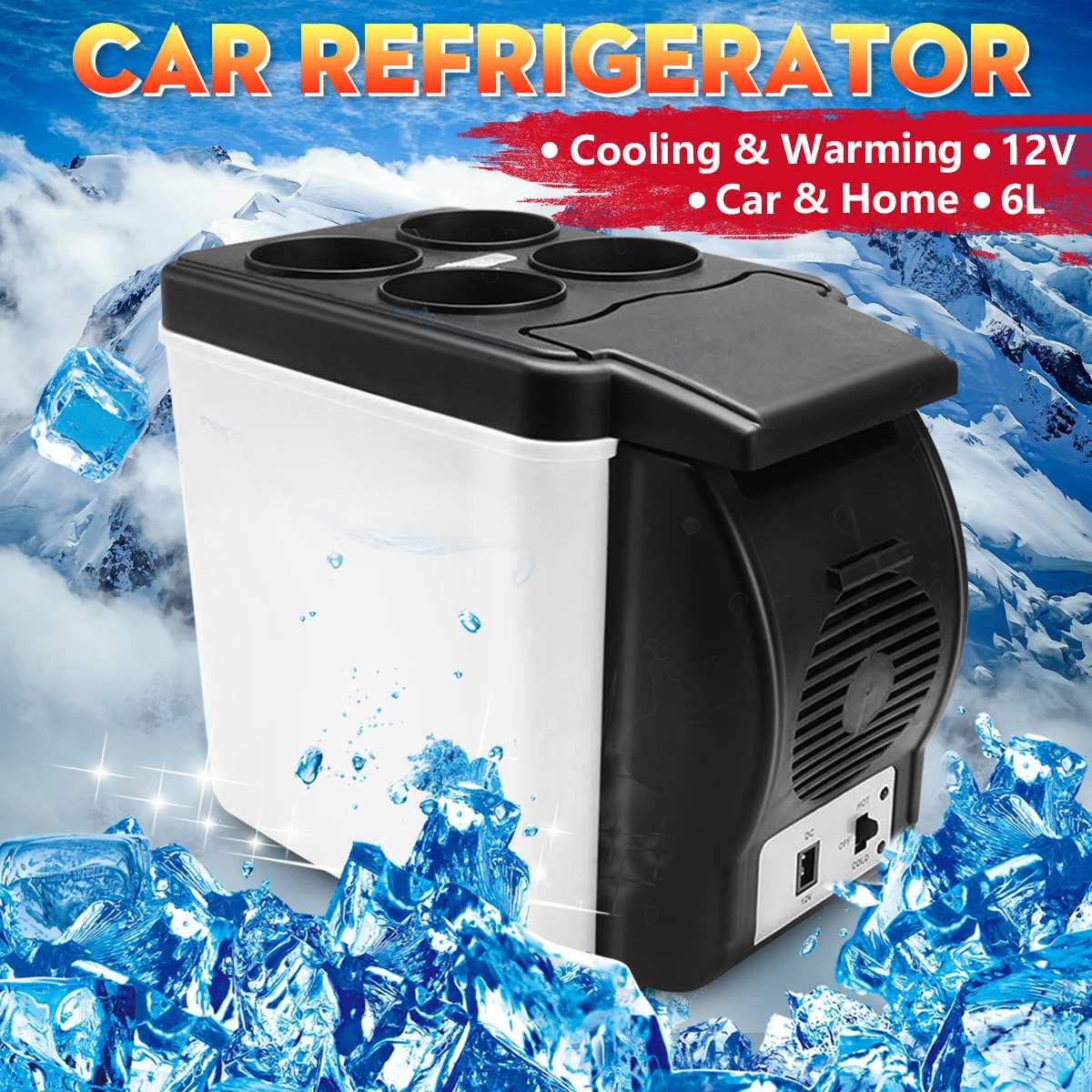 Mini nevera de Camping para casa 6L, nevera eléctrica, enfriador y calentador 12 V, caja portátil de viaje, congelador para Auto camión