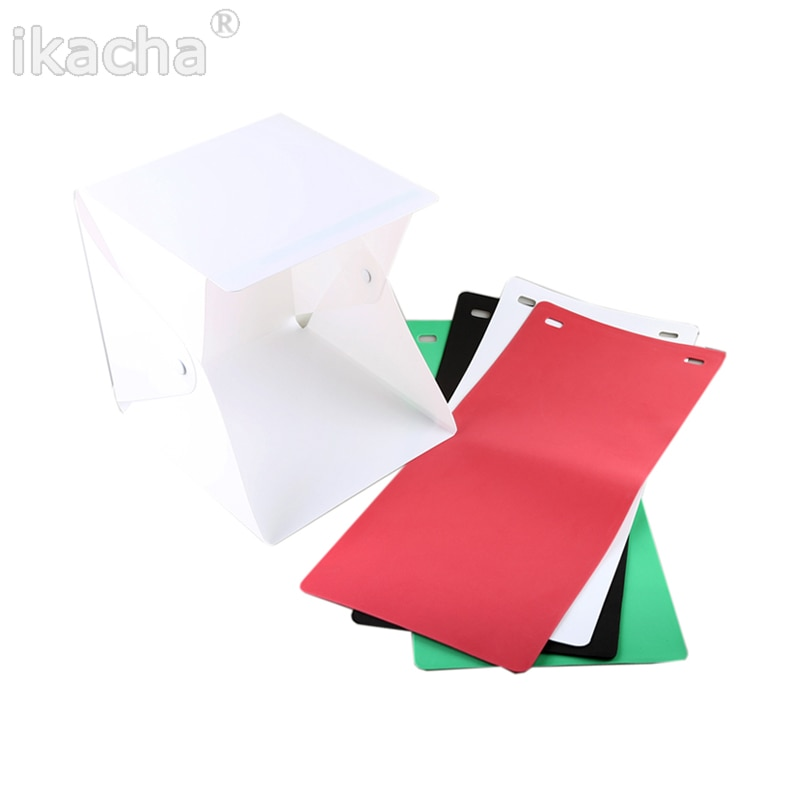 "Hot 9"" Mini Folding Lightbox Photography Studio Softbox LED Light Soft Box Camera Photo Background Box Lighting Tent Kit"