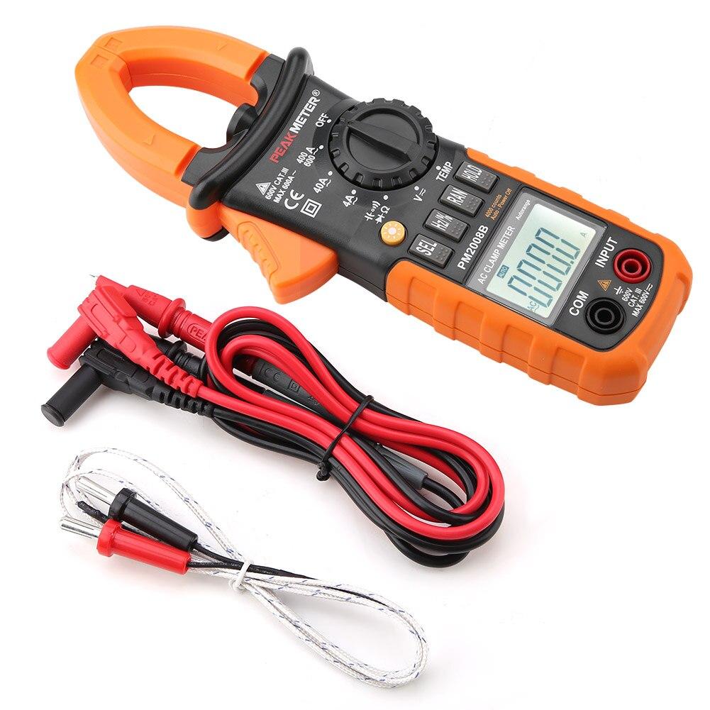 Medidor de voltaje Digital PEAKMETER PM2008B multímetro de abrazadera Digital de rango automático de alta precisión