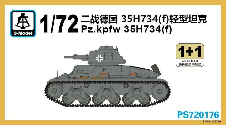 S-modelo 1/72 PS720176 Pz! kpfw 35H734 (f) (1 + 1)