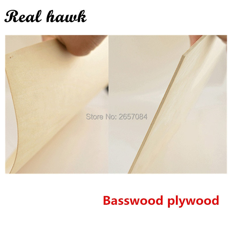 300x200x2mm basswood plywood super quality Aviation model layer board basswood plywood plank DIY wood model materials enlarge