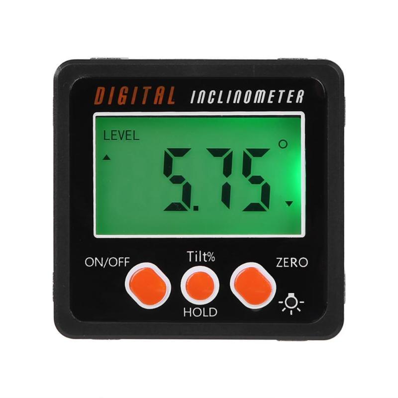 Rapporteur électronique inclinomètre numérique 4-90 degrés boîte à biseau numérique jauge dangle compteur aimants Base outil de mesure