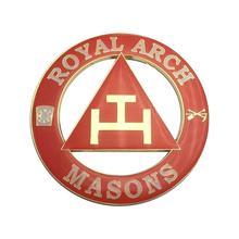 """3 """"maçônica Emblema Real do Ouro Arco Auto Caminhão Do Carro Da Motocicleta Adesivo Decalque Emblema Com Adesivo Vermelho"""