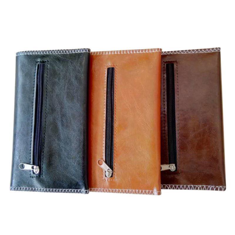 1 UDS-Bolso de cuero de PU para tabaco cigarrillo portátil tubo rodante estuche para tabaco estuche cartera porta papeles accesorios para fumar
