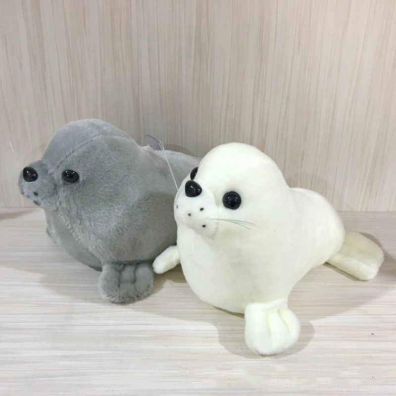 8inch Super Cute Kids Toys Plush Stuffed Doll Toy Animal White Grey Seal Doll for Baby Toy
