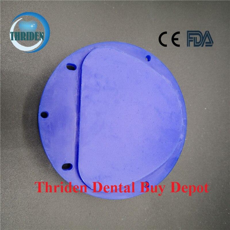5 unids/lote Dental CAD CAM cera disco Amann Girrbach Sistema 89*71*12/14/16/18/20/25mm azul tallado cera bloque de materiales dentales