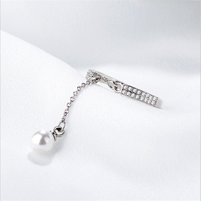 2019 nuevos anillos Anel Masculino 100% Real cadena de enlace Cz anillos de dedo para mujer joyería anillo de moda